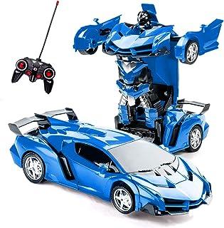 Transformerande leksaker fjärrkontroll transformera bil 2 i 1 fjärrkontroll bilar för barn pojkar i åldrarna 5-8 deformeri...