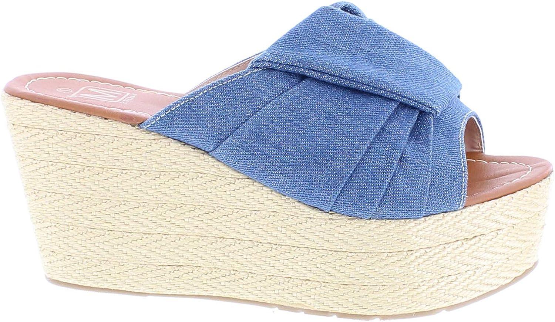 Maker's shoes Womens Espadrille Platform Wedge Heel Peep Toe Ankle Strap Slingback Sandals