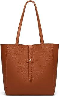 Dreubea Women's Large Tote Shoulder Handbag Soft Leather Satchel Bag Hobo Purse