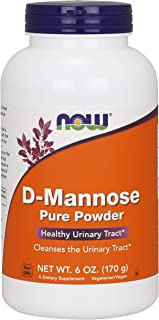 NOW Supplements, Certified Non-GMO, D-Mannose Powder, 6-Ounce