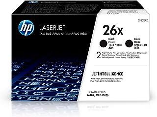 HP 26X | CF226XD | 2 Toner Cartridges | Black | High Yield, Pack of 2
