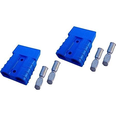 Batterie Stecker 175a 16 Mm2 Blau Set Steckverbinder Für Gabelstapler Kabel Beleuchtung