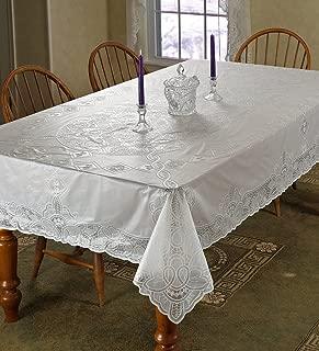 Vinyl Lace Betenburg Design Tablecloth Size: 72