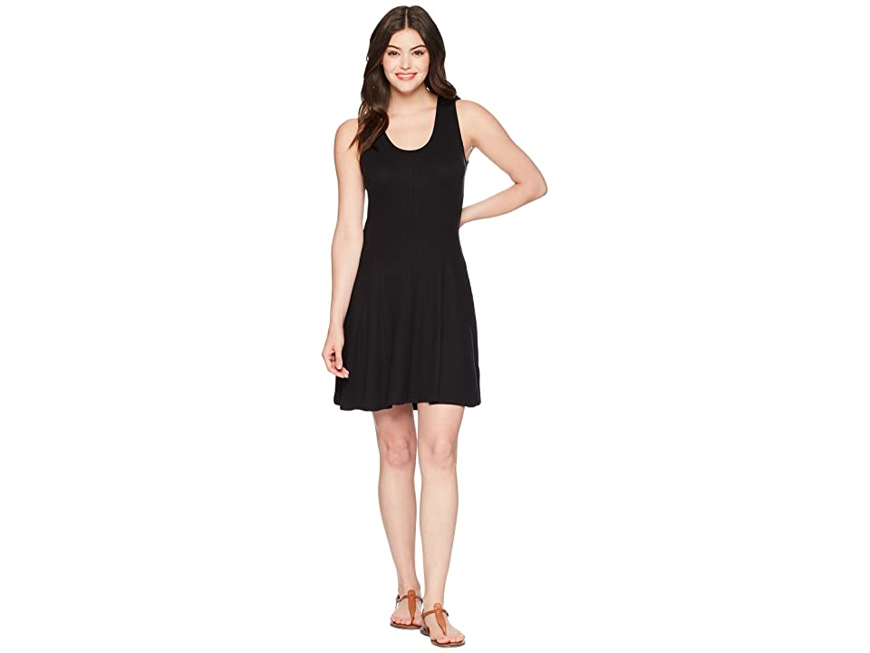 Toad&Co Daisy Rib Sleeveless Dress (Black) Women