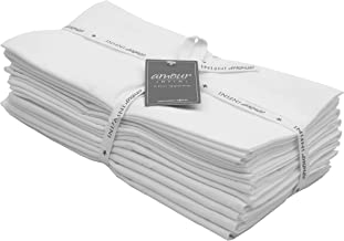 AMOUR INFINI Flour Sack Towels White  12 Pack   28 x 28 Inch   Multi-use Kitchen Towels, Dish Towels, Cloth Napkins  100% ...
