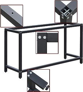 WilTec Soporte Banco Trabajo 50x100x80cm armazón Bastidor Caballete Mesa Trabajo empaquetar embalar Taller