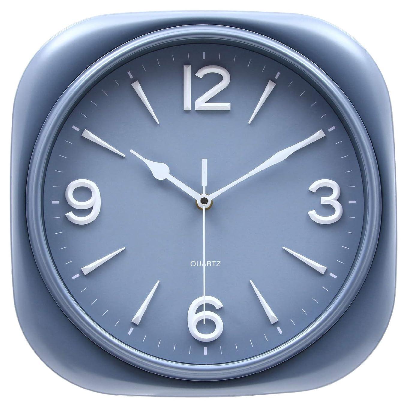 成熟隣人提供された不二貿易(Fujiboeki) 掛け時計 グレー 32×32cm スピカ 27263