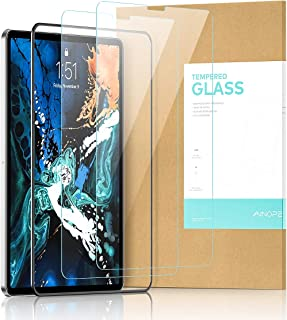 Ainope【2 Pack Screen Protector Compatible ipad pro 11, [Face ID Recognition] Tempered Glass Screen Protector iPad 2018 11 inch Anti-Fingerprint HD Scratch Resistance Film for Apple iPad Pro New
