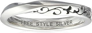 [FREE STYLE] FREE STYLE 麻花阿拉伯风格银戒指 黑色