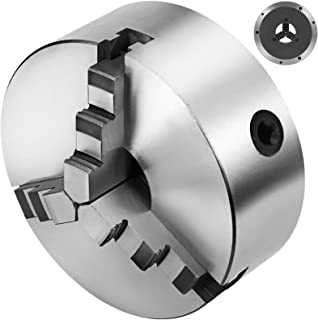 Mophorn K11-200 Chuck 3-jaw 8Inch 200mm Lathe Chuck Self Centering Reversible Hardened Steel Lathe Chuck With Internal and External 2 Set Jaws