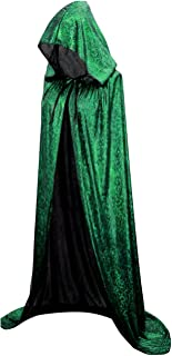Hamour Unisex Halloween Cape Full Length Hooded Cloak Adult Costume