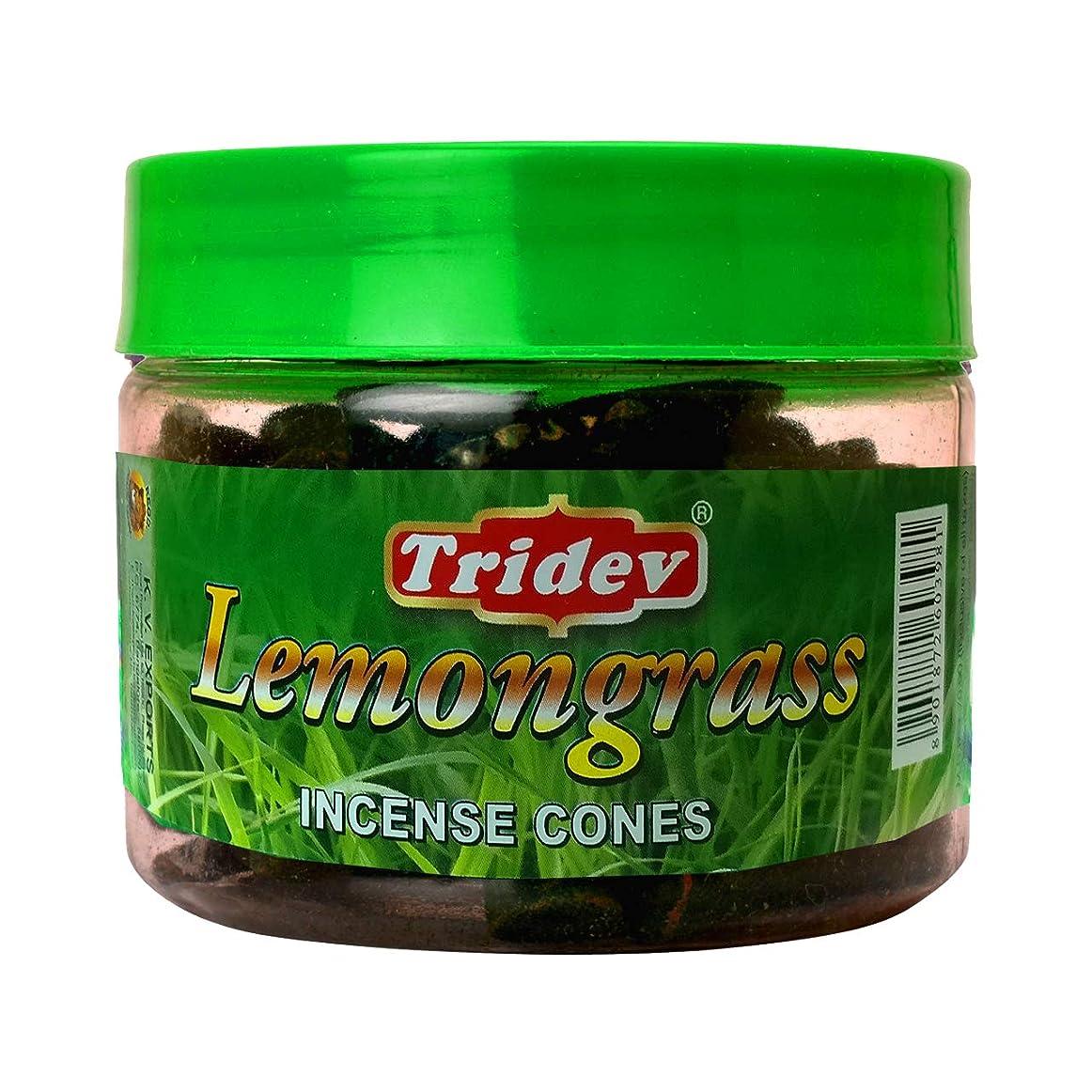 増幅最高発掘Tridev レモングラスフレグランス コーン型お香瓶 1080グラム ボックス入り 12個入り 輸出品質