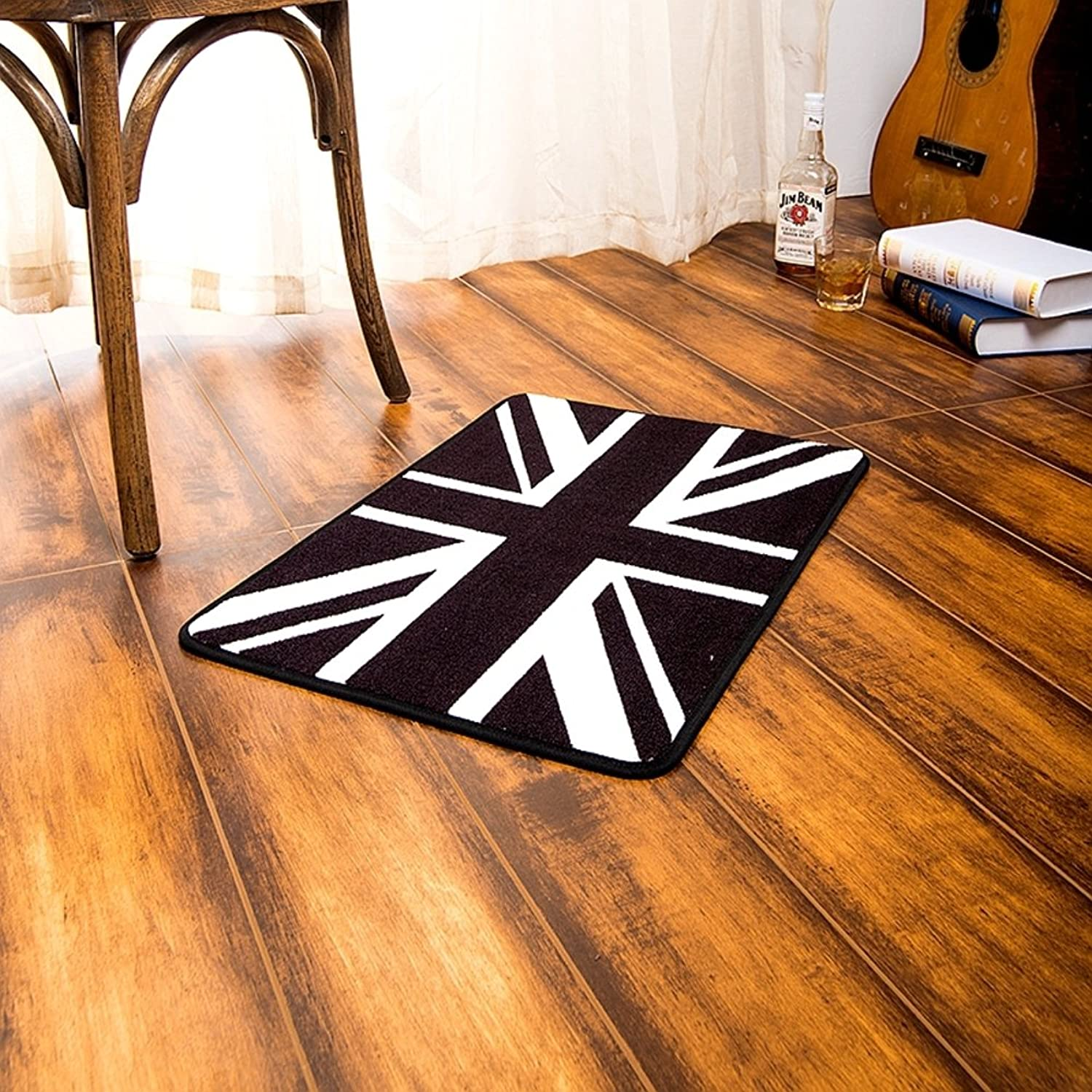 British Wind Pad, Doormat Modern Simple,Black and White Entrance Mat-A 20x31inch