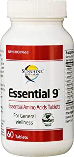 Amino Acids Supplement Pills, All Essential Amino Acids EAA, Tablets. Improve Protein Synthesis, Muscle Repair, Growth, Re...