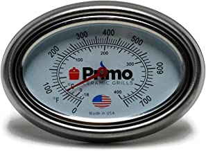 Primo Grills Thermometer and Bezel Combo for Primo Ceramic Grills - Now 200% Larger and Ability to Calibrate