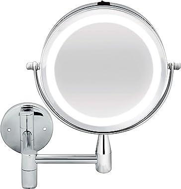 Bodysense BodySense Extendable Wall Mirror Led Lighted 2 x Magnification Mirror