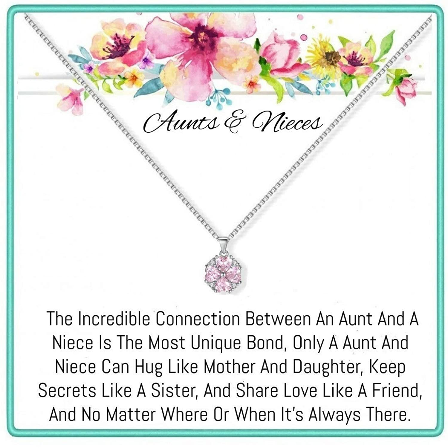 Onepurposegifts Aunt& Nieces Gifts Set Necklace for Birthday Gift