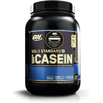 Optimum Nutrition (ON) Gold Standard 100% Casein Protein Powder - 2 lbs, 907 g (Chocolate Supreme)