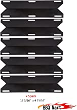 BBQ Mart 93041(5-pack) Porcelain Steel Gas Grill Heat Plate for Charmglow, Permasteel, Uniflame, Charbroil Model Grills and Others