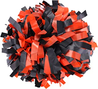 orange and black cheer pom poms