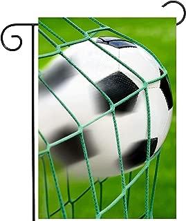 ShineSnow Soccer Ball Goal Football Game On Green Field Garden Yard Flag 12