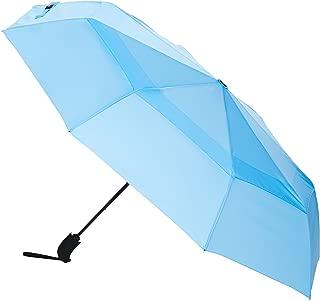 AmazonBasics Automatic Open Travel Umbrella with Wind Vent - Light Blue