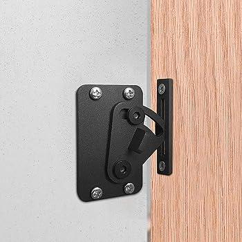 CCJH corredizo corredizo puerta de la puerta cerradura de la puerta bolsillo de madera cerraduras de la puerta negro: Amazon.es: Hogar
