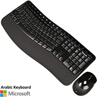 Microsoft Wireless Comfort Desktop 5050, English and Arabic Keyboard with Mouse - Black Color - [PP4-00018]