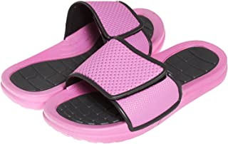 60cdb97f773a5 BARE HUGS Girls Rugged Adjustable Closure Slide Sandals (See More Colors  and Sizes)