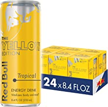 Red Bull Energy Drink, Tropical, Yellow Edition, 8.4 Fl Oz (24 Count)