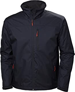 Helly Hansen Men`s Crew Midlayer Fleece Lined Waterproof Windproof Breathable Rain Coat Jacket