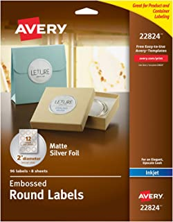 Best silver embossed labels Reviews