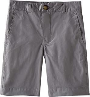 Spring&Gege Boys' Cotton Twill Flat Front Uniform Stretch Chino Shorts