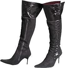 Genuine Leather /& Animal Print Ankle Boots x Ladies GUCINARI Designer Black