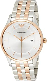 Emporio Armani Men's Quartz Watch, Analog Display and Stainless Steel Strap AR11044