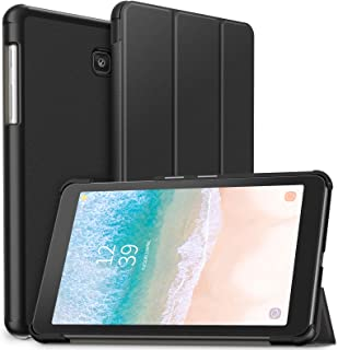 Infiland Galaxy Tab A 8.0 2018 Case, Slim Tri-Fold Shell Case Cover Compatible with Samsung Galaxy Tab A 8 Inch 2018 Release Model T387 Tablet Verizon/Sprint/T-Mobile/AT&T, Black
