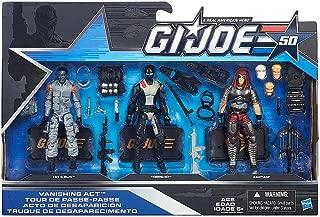 G.I. Joe, 50th Anniversary, Vanishing Act Action Figure Set [Hit & Run, Torpedo, and Zartan], 3.75 Inches