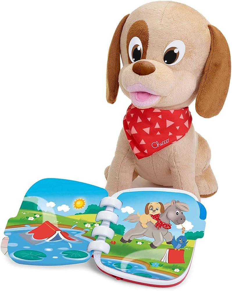 Chicco cane peluche interattivo parlante lucky il cucciolo raccontastorie,gioco educativo con libro scritto 00009606000000
