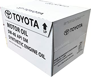 زيت محرك تويوتا التخليقي 5 دبليو 12-40 عبوة × 1 لتر - زيت محرك تويوتا المصنع 5 دبليو 12- 40 عبوة × 1 لتر