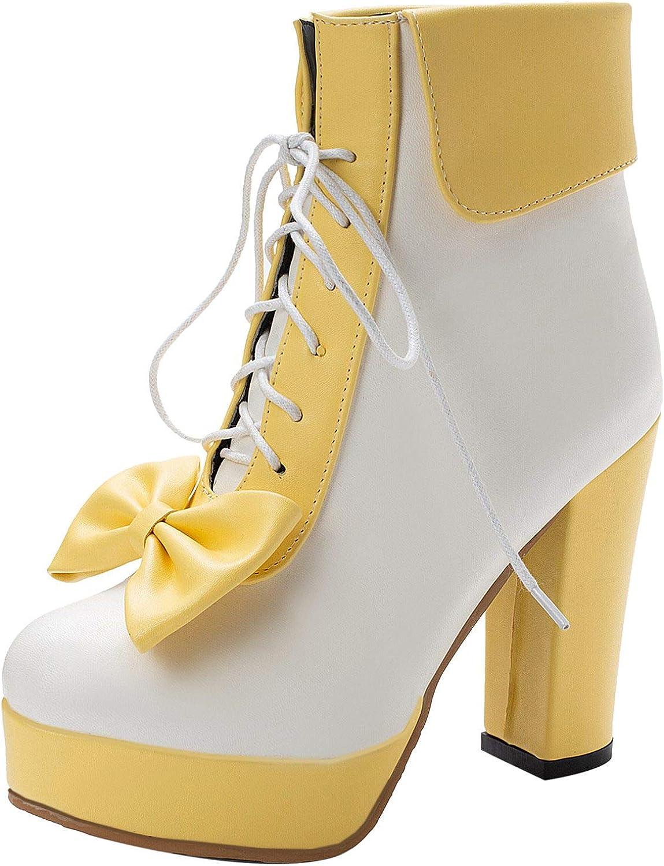 使い勝手の良い AbbyAnne Women Sweet Lolita 専門店 Boots Chunky Shoes Heel Platform