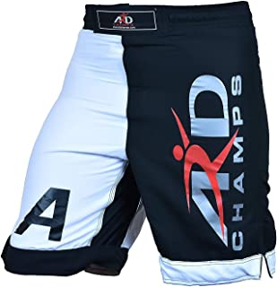 ARD Pro MMA Fight Shorts UFC Cage Fight Grappling Muay Thai Boxing Black-White Xs-3xl