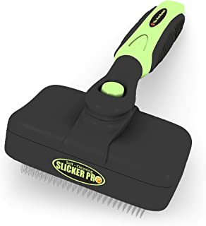Pro Quality Self Cleaning Slicker Brush for Dogs and Cats - Easy to Clean Pet Grooming Brush Removes Mats, Tangles, and Loose Hair with Minimal Effort and Comfort - Suitable for Long or Short Hair