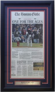Boston Red Sox Framed October 29th 2018 World Series Champions Boston Globe Cover
