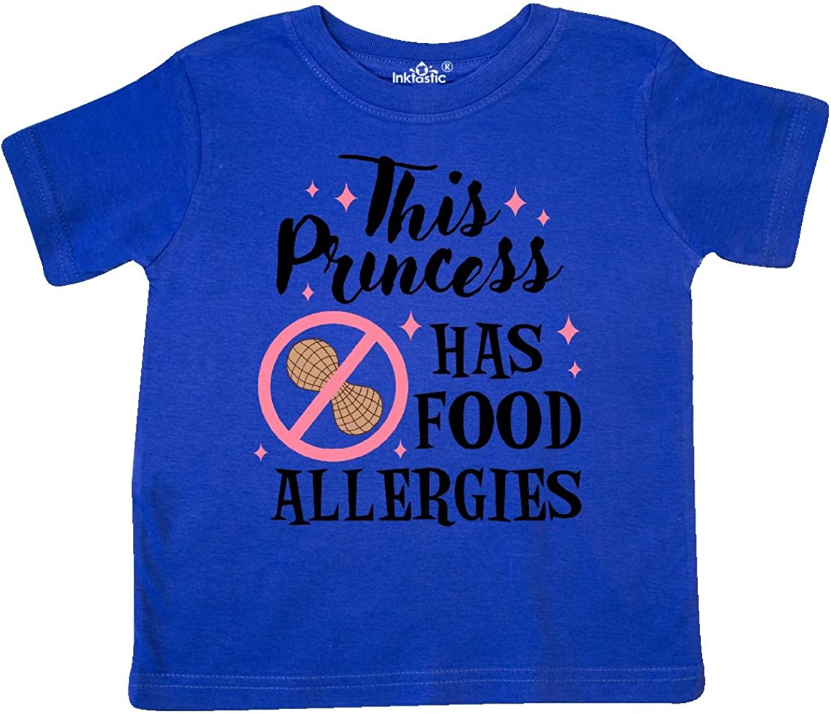 inktastic This Princess Has Food Allergies with Peanut Toddler T-Shirt