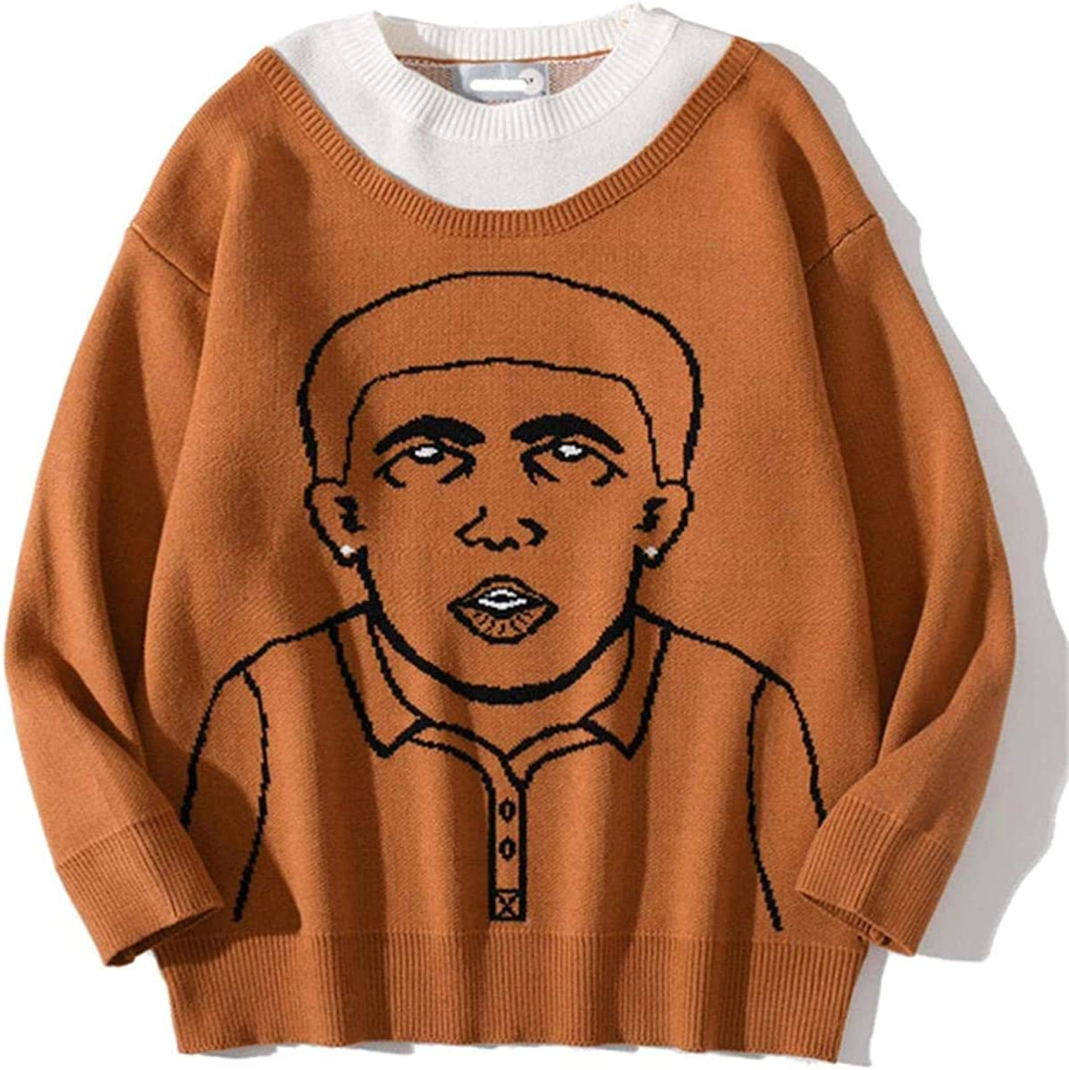 Men's Sweaters Funny Human Character Print Pullover Knitwear Sweater Casual Sweater Streetwear Tops