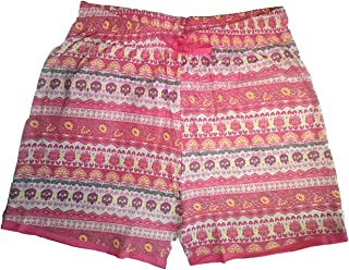 Zeki Women's Printed Cotton Shorts (Colour Pink)