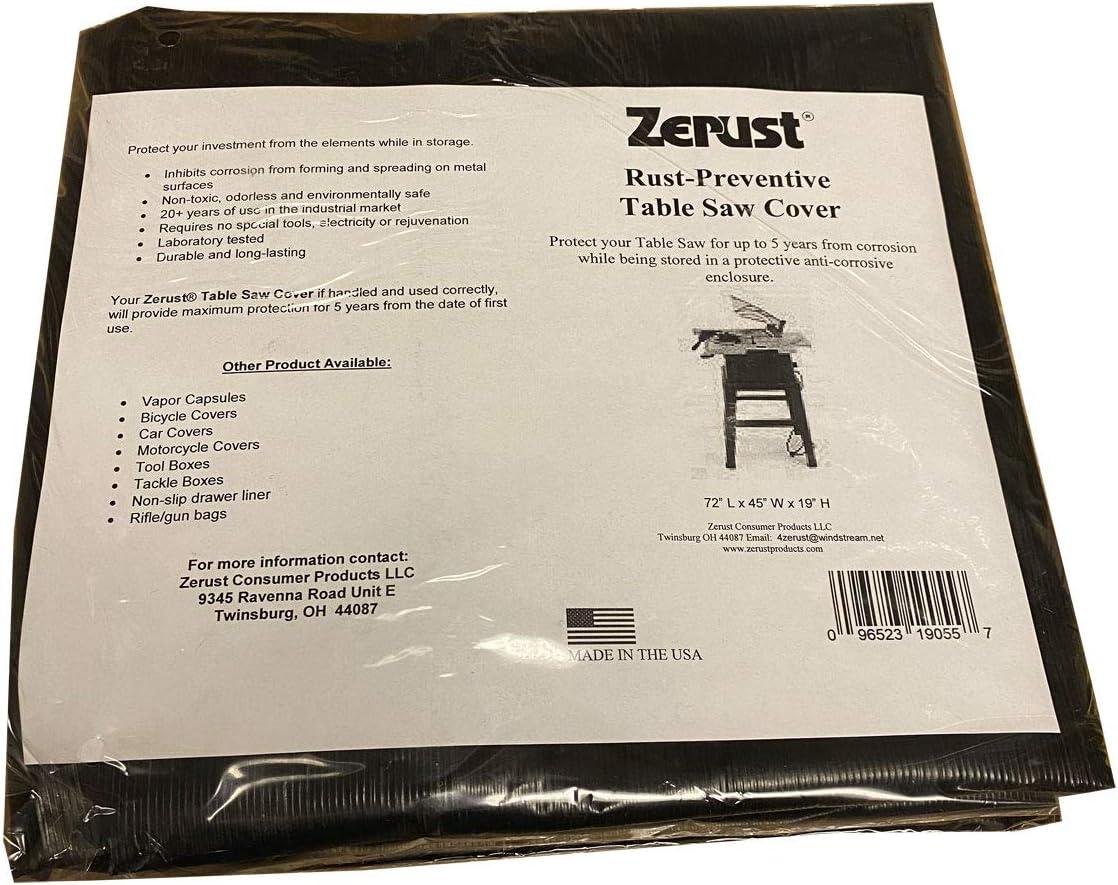 Zerust Rust-Preventive Table Saw Cover 72