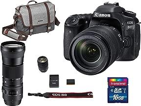 Canon EOS 80D DSLR Camera with 18-135mm USM + Sigma 150-600mm F5-6.3 DG Contemporary + Manfrotto Camera Messenger Bag + Transcend 16GB Memory Card Bundle