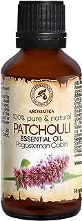 Patchouli Öl 50ml - Pogostemon Cablin - Indonesia - 100 % Reine & Natürliche Patchouli - Patchouliöl - Guten für Beauty - Aromatherapie - Spa - Aroma Diffuser - Duftlampe - zur Schönheitspflege