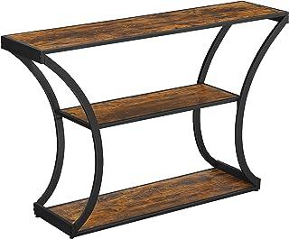 VASAGLE Table Console, Table d'entrée, Pieds courbés, Dessus de Table allongé, pour Salon, Couloir, Chambre, Style Industr...